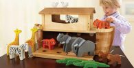 Arca de noe madera maqueta niños