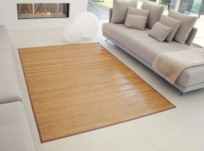 alfombra bambu salon marron
