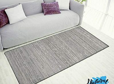 alfombra bambu natural salon gris