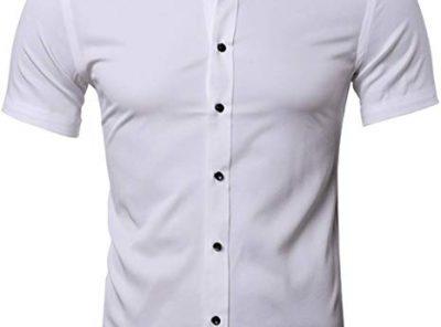 camisa formal casual hombre manga corta bambu 2020