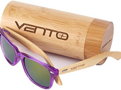 gafas de sol de bambu purple