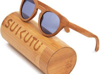 Gafas de sol de bambú polarizadas estilo retro