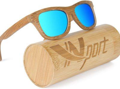 gafas de bambu polarizadas estilo vintage