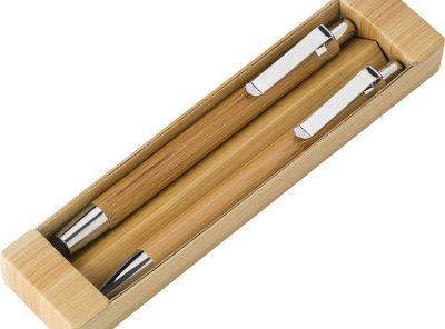 juego de boligrafo y lapiz de bambu