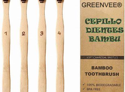 juego de 4 cepillos de dientes bambu