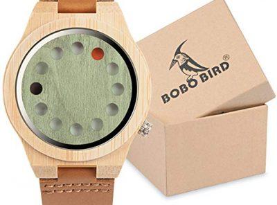 reloj bambu bobo unisex 12 agujeros