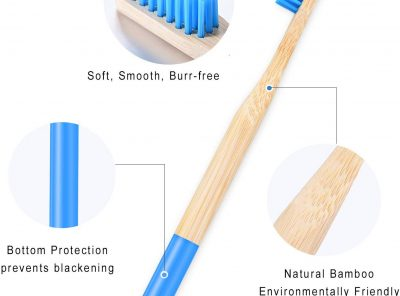 Set 8 cepillos de dientes con mango de madera
