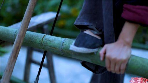 Cual es la mejor forma para cortar una caña de bambú natural
