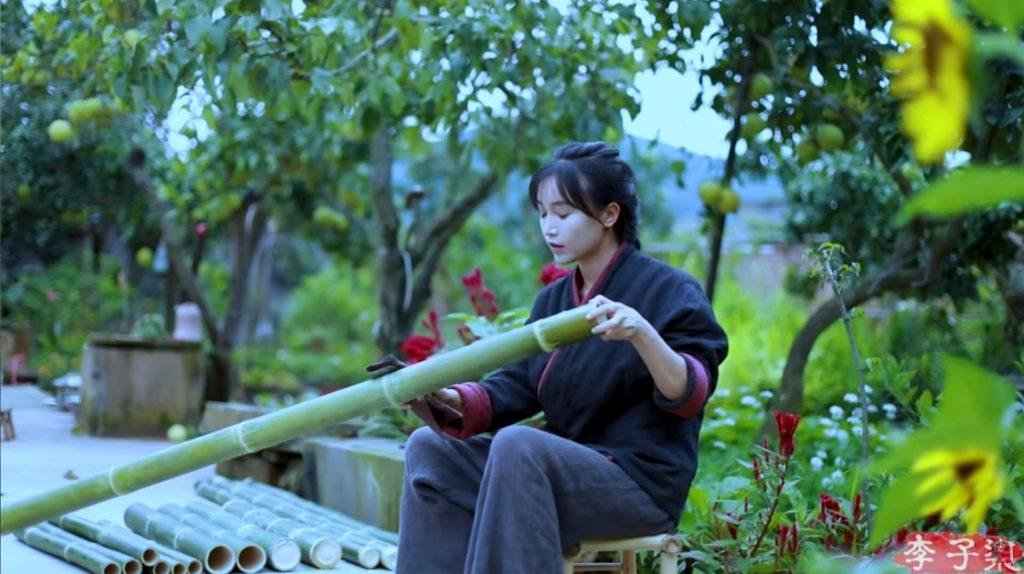 como preparar el bambú antes de construir un banco de bambú