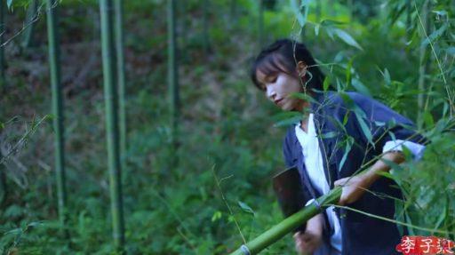 como se realiza la limpieza de una caña verde de bambu