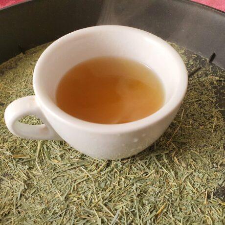 Té de bambú recién hecho